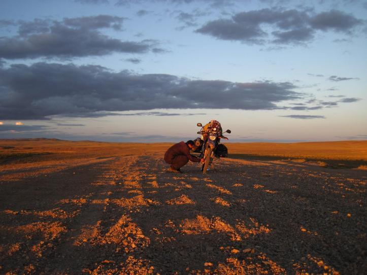La vuelta en moto